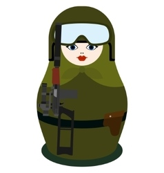 Matryoshka with special forces weapon vector