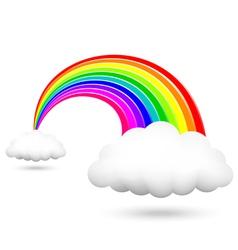 shiny rainbow vector image vector image