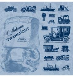 transportation antique set vector image vector image