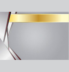 abstract sharp metallic aluminum with gold frame vector image vector image