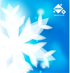 blue winter abstract backround vector image vector image