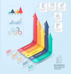 Business arrows infographics template vector image vector image