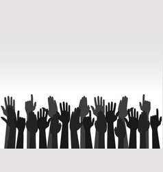 hands up colors voting hand raised up election vector image