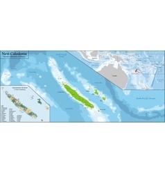 New Caledonia map vector image
