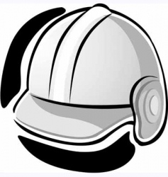 working equipment with hat vector image