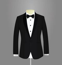 black tuxedo vector image vector image