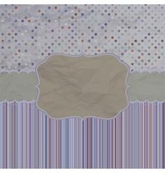 Retro Greeting Card vector image vector image