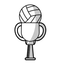 volleyball winner cup prize - shadow vector image