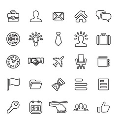 25 outline universal Business icons vector image