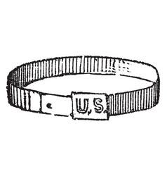 A band or girdle vintage engraving vector