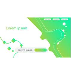 Abstract creative concept green gradient landing vector