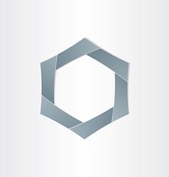 Abstract hexagon shape background symbol vector