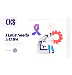 Alzheimer disease research website landing page vector