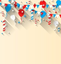 American patriotic background with balloons vector image