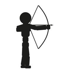 Archer man sign black icon vector