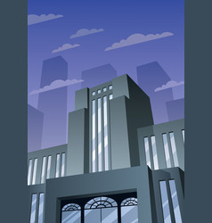 art deco building 2 vector image
