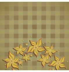 Background with squares and flowers vector image