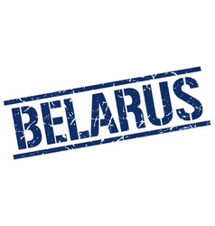 Belarus blue square stamp vector