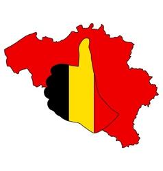 Belgian hand signal vector