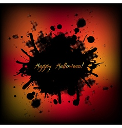 Black Halloween With Blobs vector image