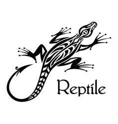 Black lizard silhouette vector