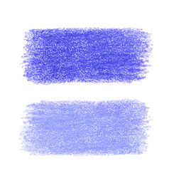 Blue crayon scribble texture stain isolated on vector