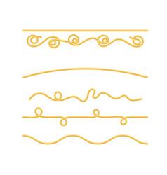 Boiled spaghetti isolated vector