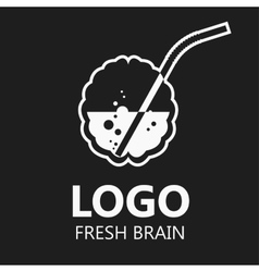 Brain logo silhouette design vector