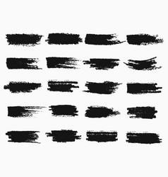 Brush strokes or pen scratches of ink vector