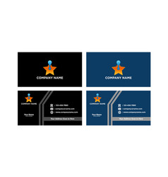business cards creative eps10 vector image