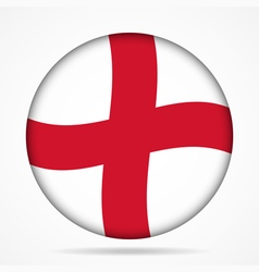 Button with waving flag of England vector