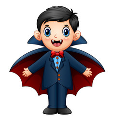 cartoon dracula kid vector image