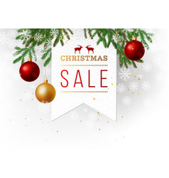 Christmas sale paper emblem vector