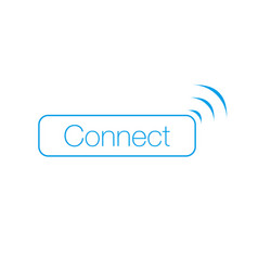 connect wi-fi wireles button with signal vector image