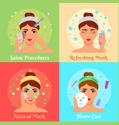 cosmetic procedures flat design concept vector image