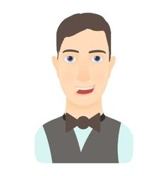 Croupier icon cartoon style vector image
