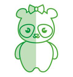 cute and tender female bear panda kawaii style vector image