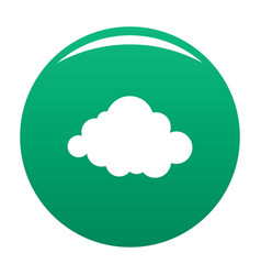 Deformed cloud icon green vector