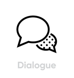 dialogue message social icon editable line vector image