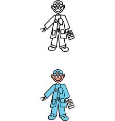 Doctor stick figure vector