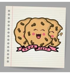 Doodle cookies vector image