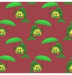 Fish with umbrella vector image