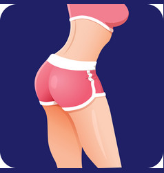 Fitness girl butt icon fitness app vector