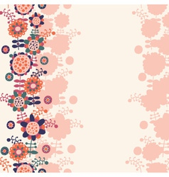 floral background with a place for text vector image
