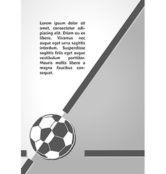 Football symbol dark infographics vector