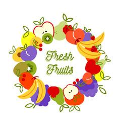 fresh fruit healthy eating background vector image