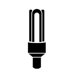 Glyph halogen lamp ecological light bulb icon vector