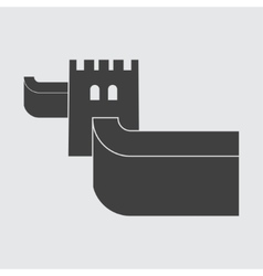 Great Wall of China icon vector