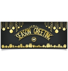 Greeting card with gold lettering decoration vector