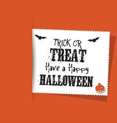 Halloween label background vector image